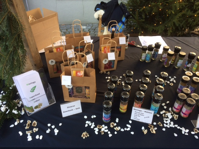 Weihnachtsmarkt Weinfelden Sanvitafood Jayaho Fair Trade Gewürze Kräuter Mühlen Streuer Tee Öl