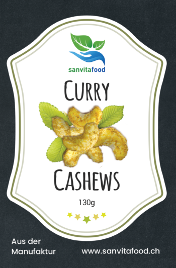Curry Cashewnüsse front